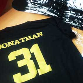 Vinyl / Jersey T-Shirt Printing for all your jerseys and sports t-shirts!
