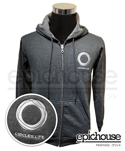 Hoodie with T-Shirt Printing and Embroidery