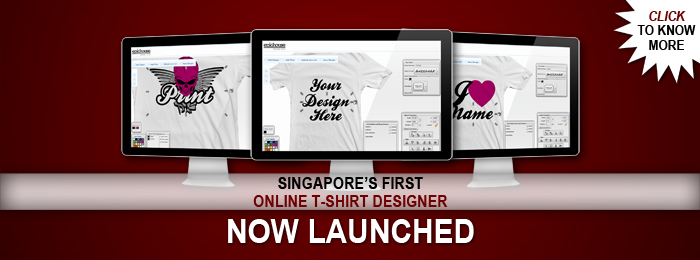 Singapore First T-shirt Online Designer, Now Launched!